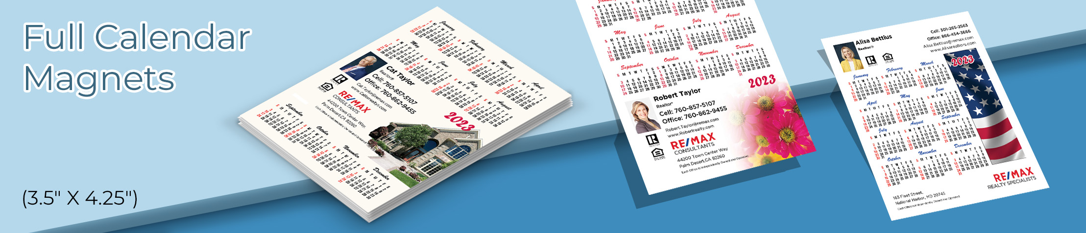 "RE/MAX Real Estate Full Calendar Magnets - RE/MAX 2019 calendars, 3.5"" by 4.25"" 