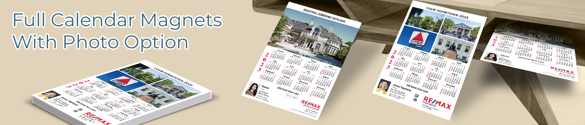 RE/MAX Real Estate Full Calendar Magnets With Photo Option - RE/MAX 2019 calendars, full-color | BestPrintBuy.com