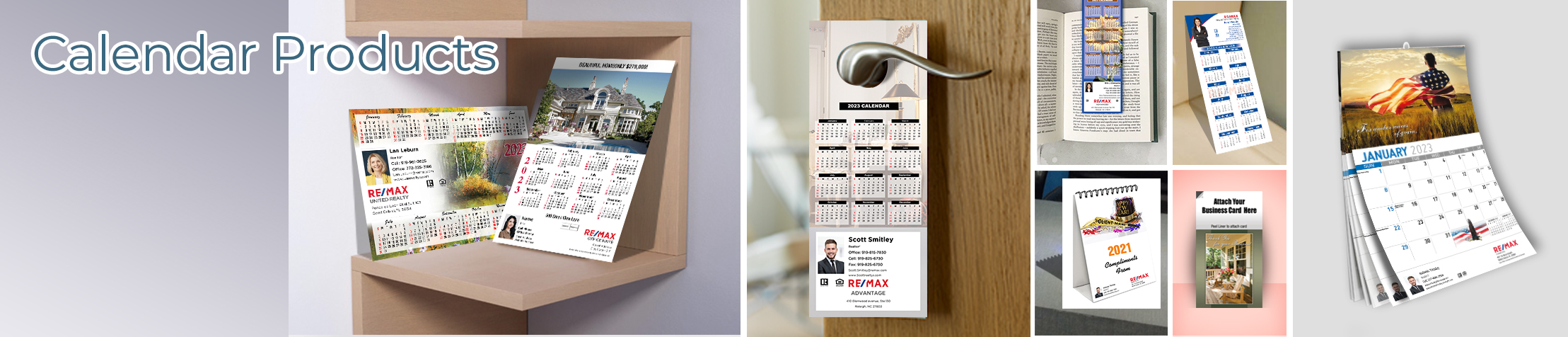 RE/MAX Real Estate Calendar Products - RE/MAX  2019 calendars, magnets, door hangers, bookmarks, tear away note pads | BestPrintBuy.com