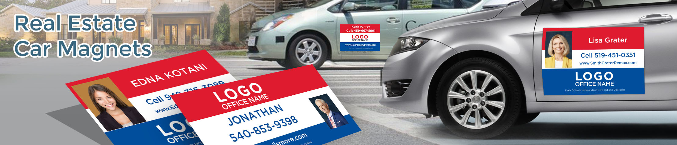 RE/MAX Real Estate Car Magnets - RE/MAX  custom car magnets for realtors, with or without photo | BestPrintBuy.com