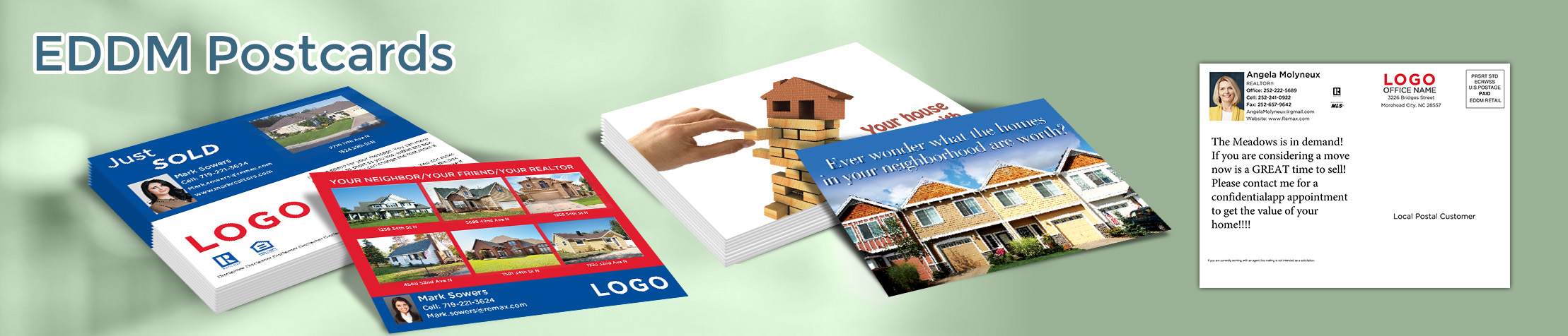 RE/MAX Real Estate EDDM Postcards - RE/MAX personalized Every Door Direct Mail Postcards | BestPrintBuy.com