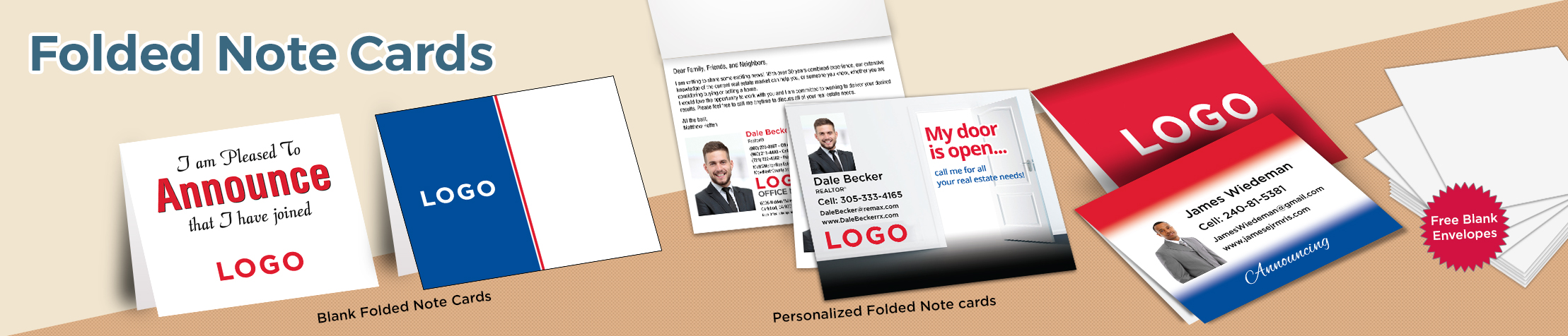 RE/MAX Real Estate Folded Note Cards - RE/MAX stationery | BestPrintBuy.com
