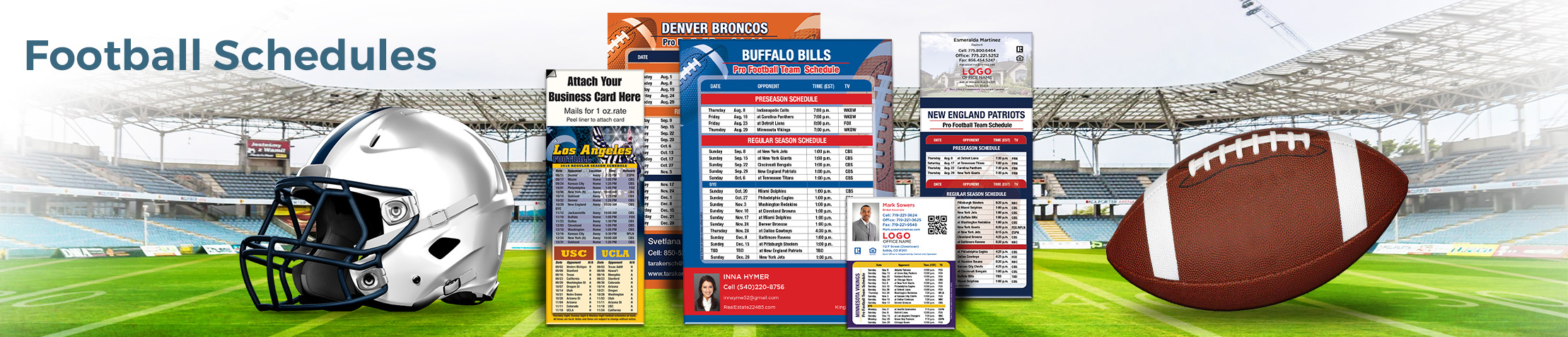 RE/MAX Real Estate Football Schedules - RE/MAX personalized football schedules | BestPrintBuy.com