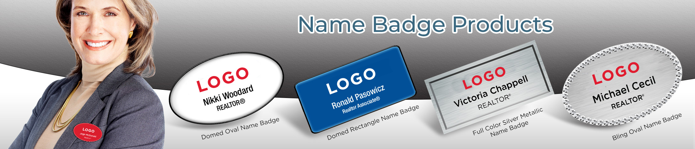 RE/MAX Real Estate Name Badge Products - RE/MAX Name Tags for Realtors | BestPrintBuy.com