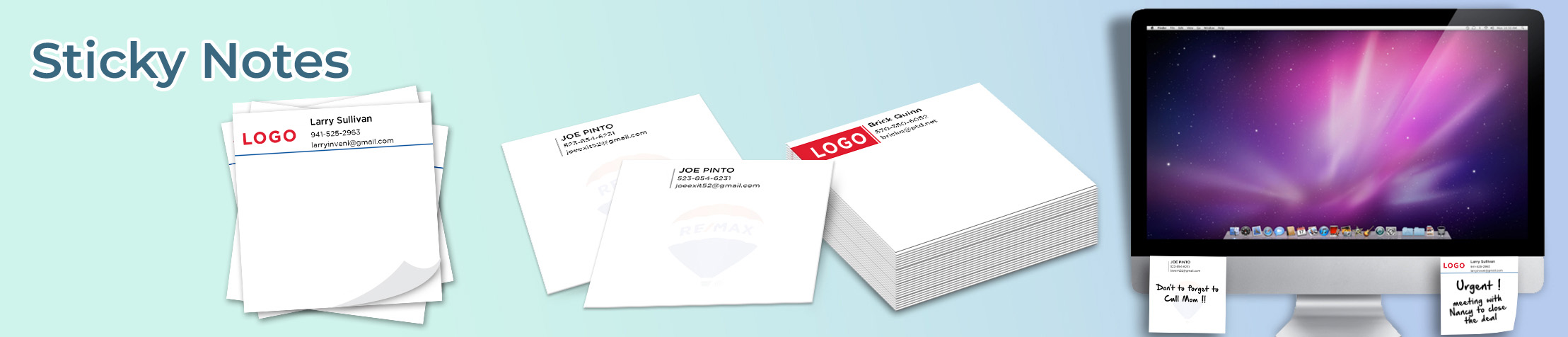 RE/MAX Real Estate Sticky Notes - RE/MAX  personalized realtor post it note pads | BestPrintBuy.com