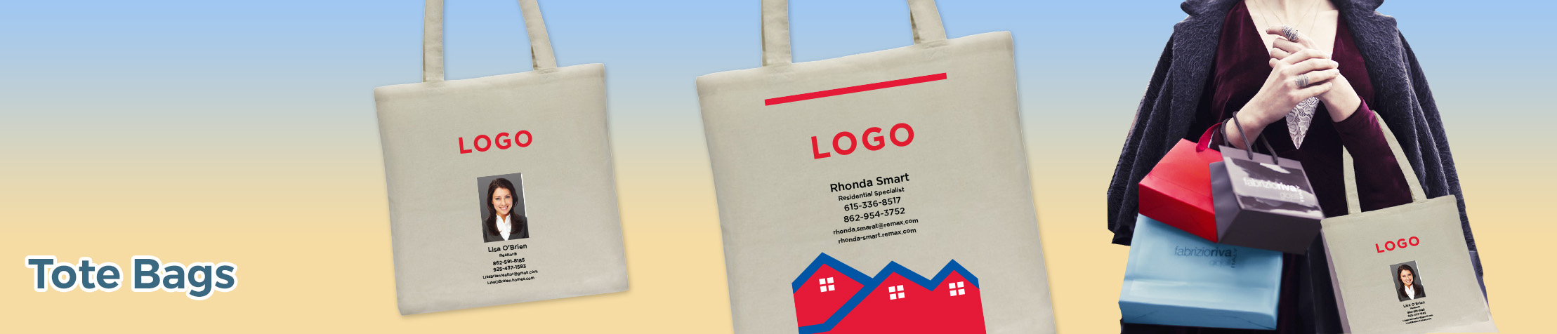 RE/MAX Real Estate Tote Bags - RE/MAX  personalized realtor promotional products | BestPrintBuy.com
