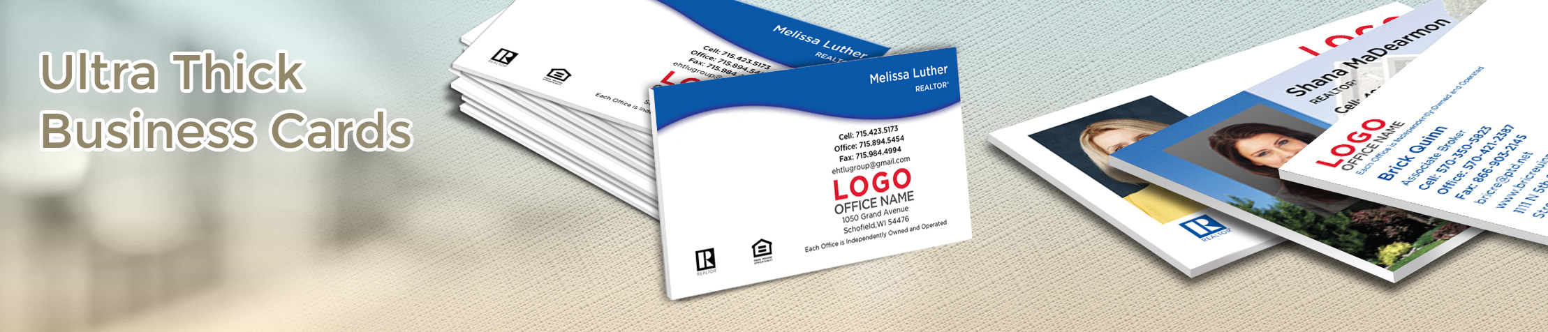 RE/MAX Real Estate Ultra Thick Business Cards - RE/MAX - Luxury, Thick Stock Business Cards with a Matte Finish for Realtors | BestPrintBuy.com
