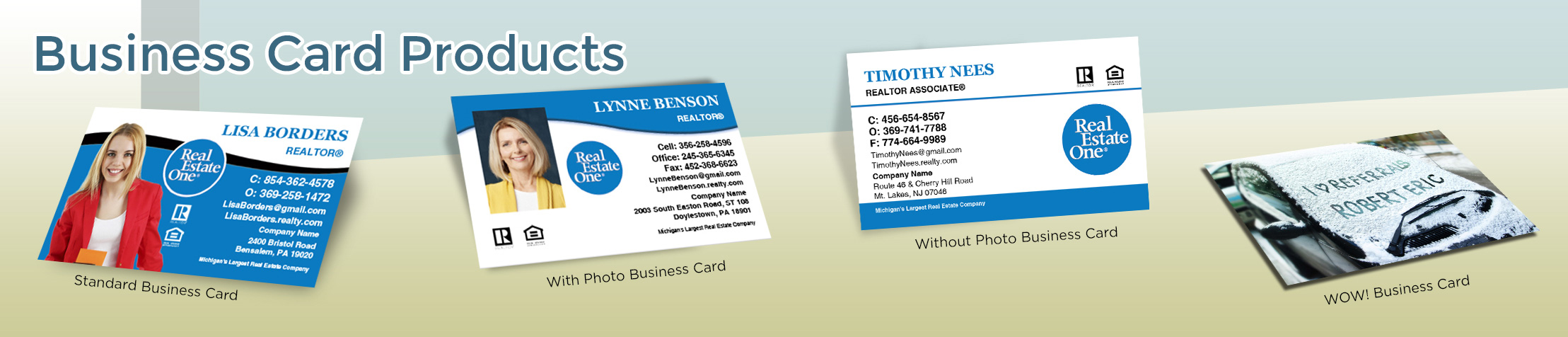Real Estate One Real Estate Business Card Products - Real Estate One  - Unique, Custom Business Cards Printed on Quality Stock with Creative Designs for Realtors | BestPrintBuy.com