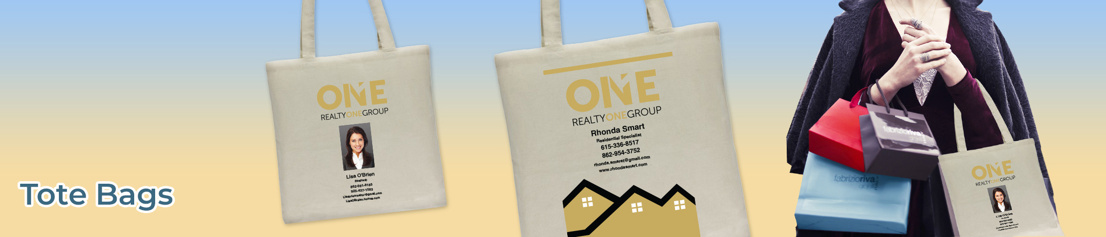 Realty One Group Real Estate Tote Bags - Realty One Group  personalized realtor promotional products | BestPrintBuy.com