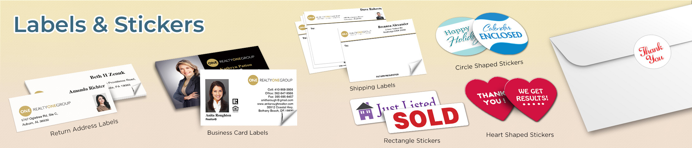 Realty One Group Real Estate Labels and Stickers - Realty One Group  business card labels, return address labels, shipping labels, and assorted stickers | BestPrintBuy.com