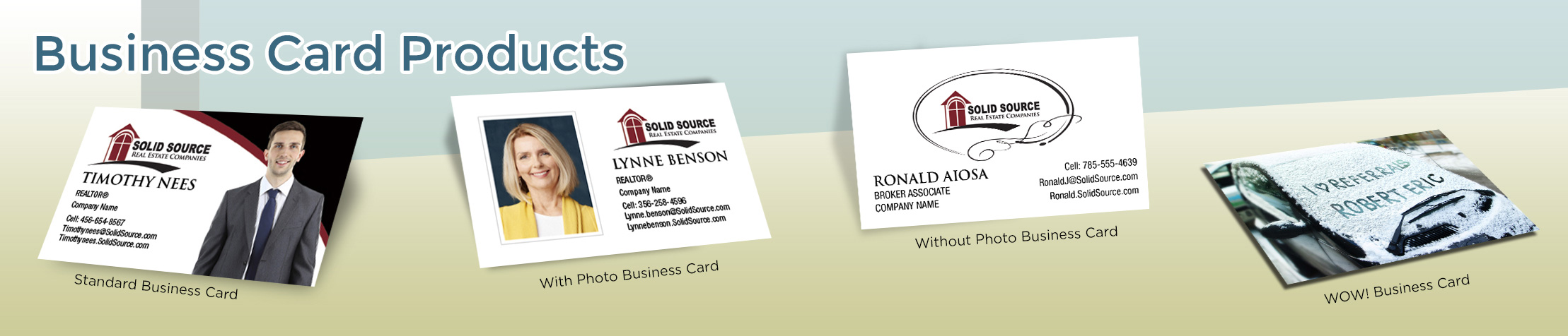 Solid Source Real Estate Business Card Products - Solid Source - Unique, Custom Business Cards Printed on Quality Stock with Creative Designs for Realtors | BestPrintBuy.com