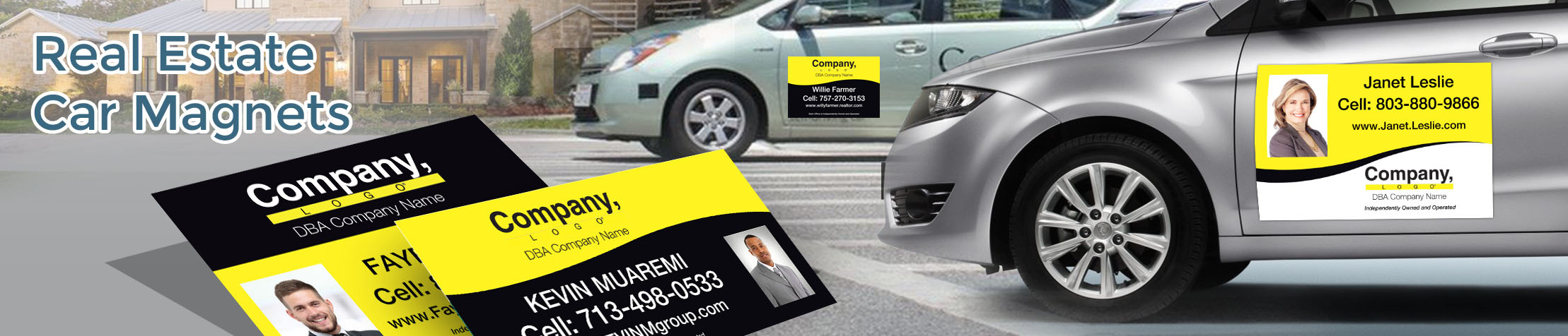 Weichert Real Estate Car Magnets - Weichert  custom car magnets for realtors, with or without photo | BestPrintBuy.com