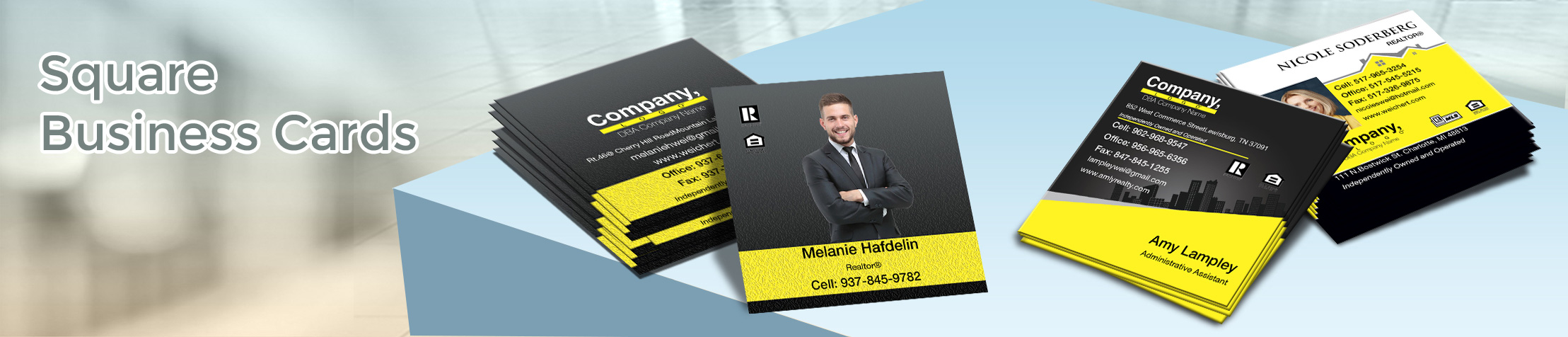 Weichert Real Estate Square Business Cards - Weichert  - Modern, Unique Business Cards for Realtors with a Glossy or Matte Finish | BestPrintBuy.com