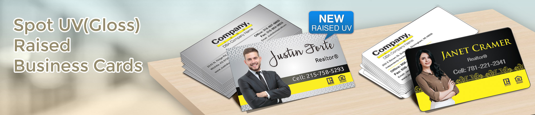 Weichert Real Estate Spot UV(Gloss) Raised Business Cards - Weichert - Glossy, Embossed Business Cards for Realtors | BestPrintBuy.com