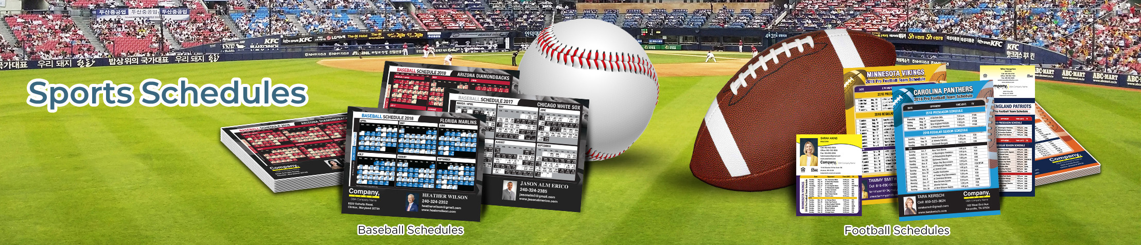 Weichert Real Estate Sports Schedules - Weichert custom sports schedule magnets | BestPrintBuy.com