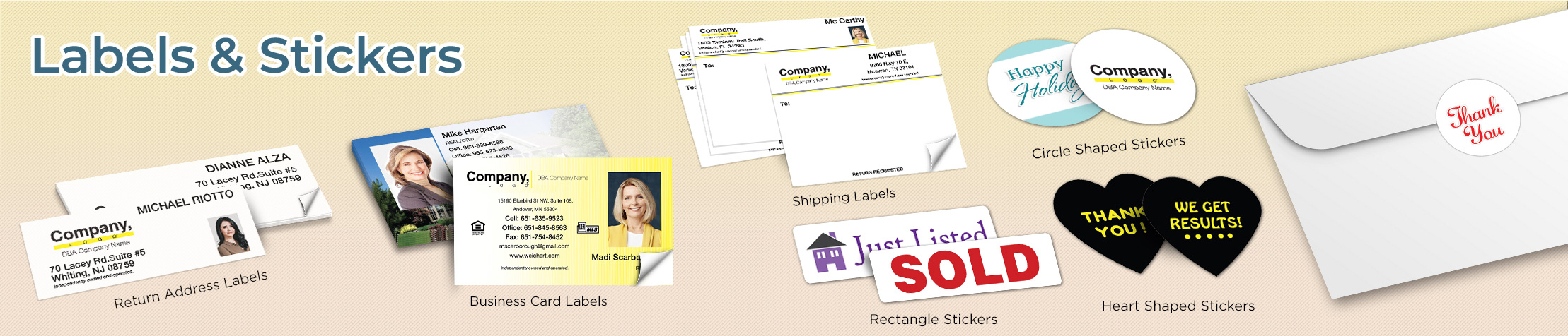 Weichert Real Estate Labels and Stickers - Weichert  business card labels, return address labels, shipping labels, and assorted stickers | BestPrintBuy.com