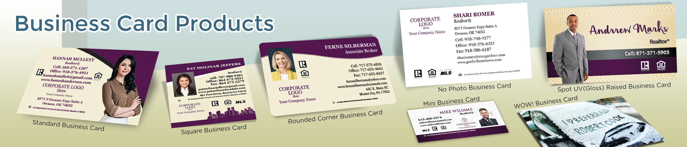 Berkshire Hathaway Real Estate Business Card Products - Berkshire Hathaway  - Unique, Custom Business Cards Printed on Quality Stock with Creative Designs for Realtors | BestPrintBuy.com