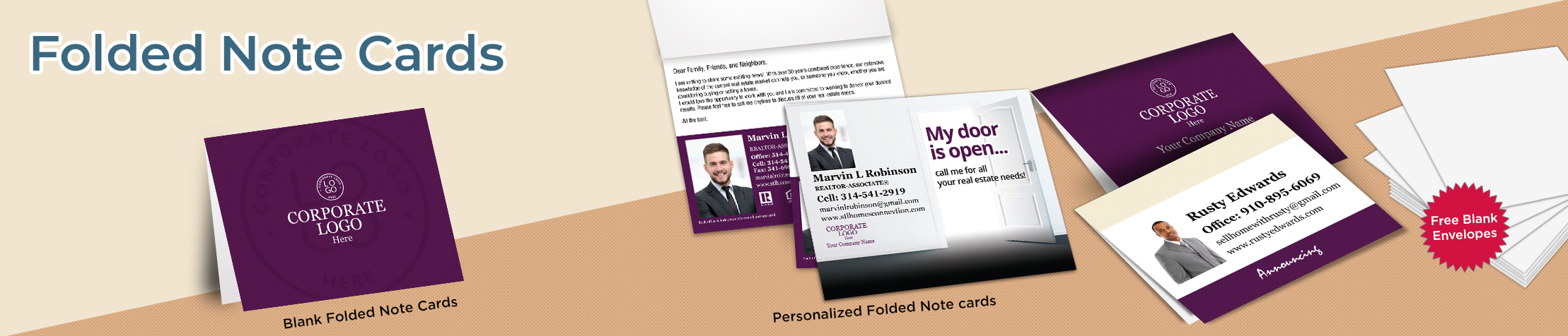 Berkshire Hathaway Real Estate Folded Note Cards - Berkshire Hathaway stationery | BestPrintBuy.com
