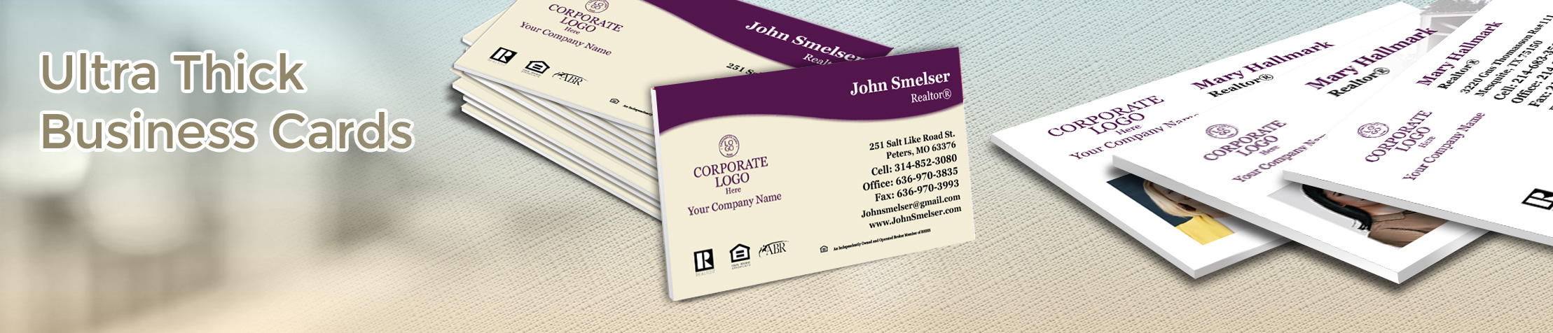 Berkshire Hathaway Real Estate Ultra Thick Business Cards - Berkshire Hathaway - Luxury, Thick Stock Business Cards with a Matte Finish for Realtors | BestPrintBuy.com