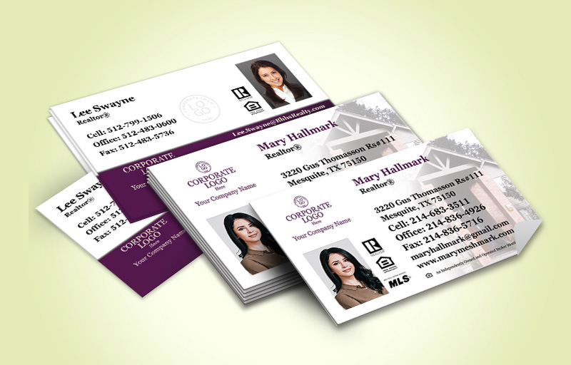 Berkshire Hathaway Real Estate Business Card Labels With Photo - Berkshire Hathaway marketing materials | BestPrintBuy.com