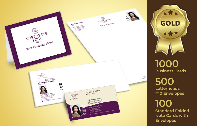 Berkshire Hathaway Real Estate Gold Agent Package - Berkshire Hathaway personalized business cards, letterhead, envelopes and note cards | BestPrintBuy.com