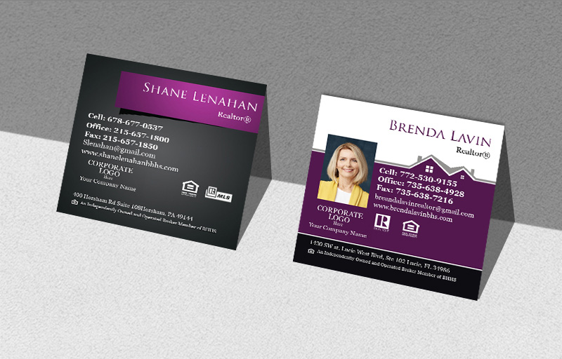 Berkshire Hathaway Real Estate Square Business Cards - Berkshire Hathaway Modern Business Cards for Realtors | BestPrintBuy.co