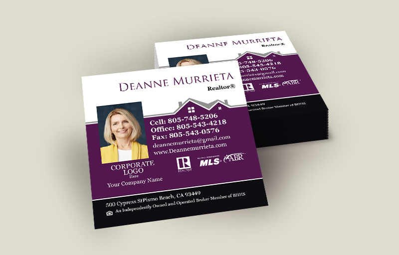 Berkshire Hathaway Real Estate Square Business Cards With Photo - Berkshire Hathaway - Modern, Unique Business Cards for Realtors | BestPrintBuy.com