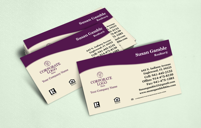 Berkshire Hathaway Real Estate Ultra Thick Business Cards Without Photo - Berkshire Hathaway  - Luxury, Thick Stock Business Cards with a Matte Finish for Realtors | BestPrintBuy.com