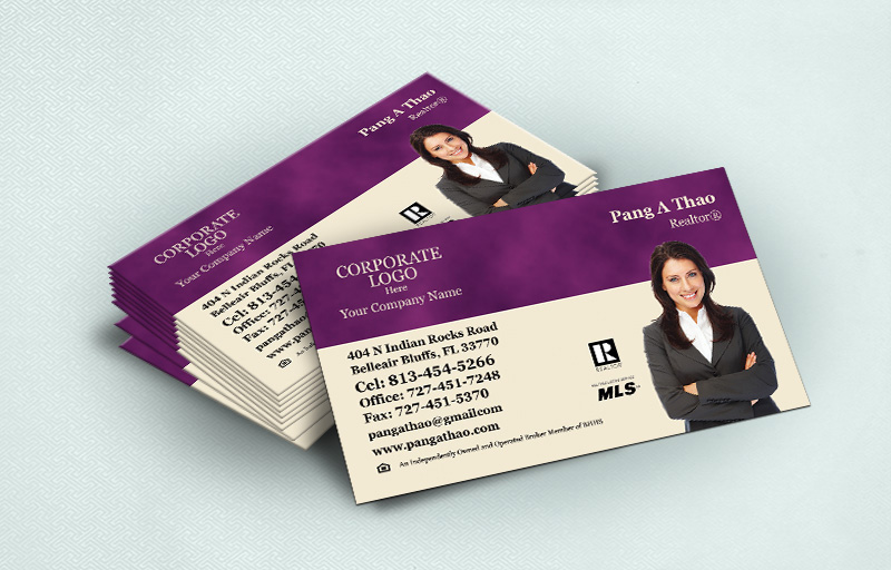 Berkshire Hathaway Real Estate Ultra Thick Business Cards With Silhouette Photo - Berkshire Hathaway  - Luxury, Thick Stock Business Cards with a Matte Finish for Realtors | BestPrintBuy.com